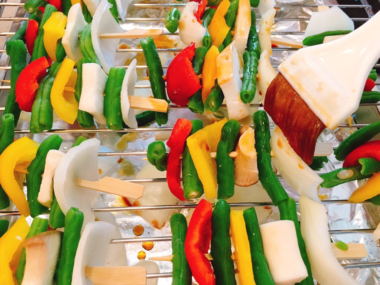 蔬菜串燒(這樣吃,兩小串就有1份蔬菜!)